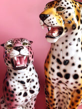 Load image into Gallery viewer, NEW LIMITED 'Etta' PINK EXCLUSIVE Medium Ceramic Leopard Statue Vintage