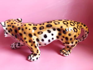 NEW 'Donny' Extra Large Prowling Ceramic Leopard Statue