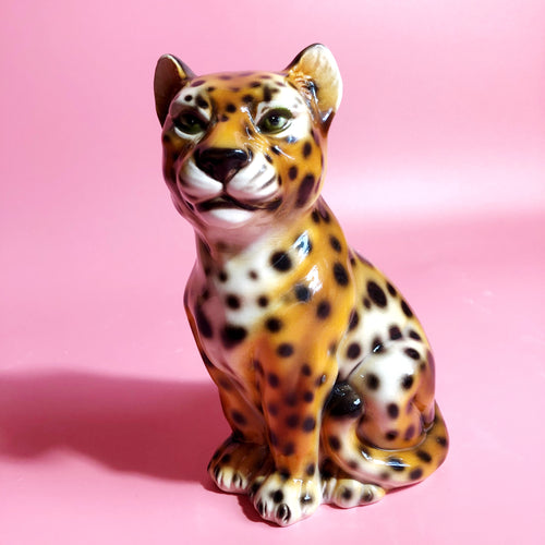 NEW 'Baby Fred' Mini Classic Ceramic Leopard Statues Vintage