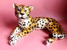 Load image into Gallery viewer, PREORDER 'Angel' Large Sitting Ceramic Leopard Statue