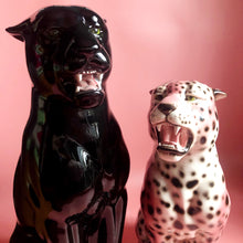 Load image into Gallery viewer, NEW 'Sabrina' Large Ceramic Panther Statue Vintage