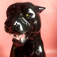 Load image into Gallery viewer, PREORDER 'Sabrina' Large Ceramic Panther Statue Vintage