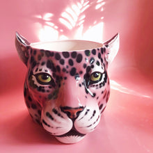 Load image into Gallery viewer, 'Penelope' XL Pink Ceramic Leopard Planter