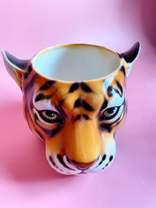 'Geri' Medium Classic Tiger Ceramic Planter