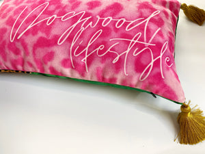 NEW 'Malachite Leopard' Dogwood Lifestyle Exclusive Luxury Cushion