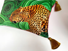 Load image into Gallery viewer, NEW 'Malachite Leopard' Dogwood Lifestyle Exclusive Luxury Cushion