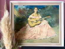 Load image into Gallery viewer, 'La Guitarista' by Clement Original Framed Portrait Print
