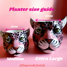 Load image into Gallery viewer, 'Emma' Medium Classic Leopard Ceramic Planter