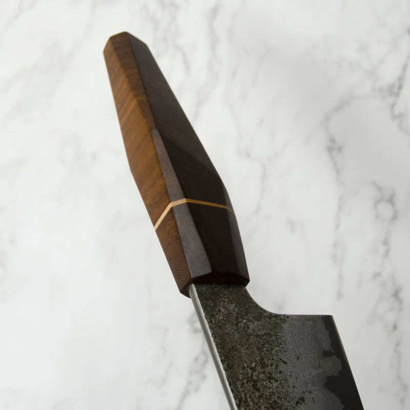 Wrought Iron San Mai Petty Knife