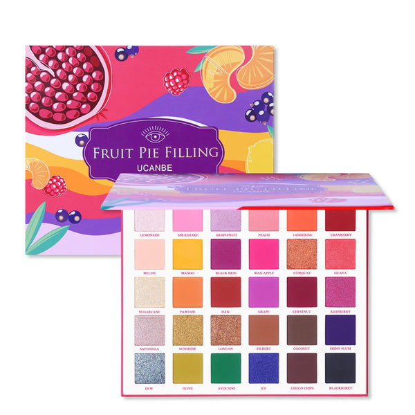 30-Color Fruit Pie Filling Pearly Matte Eye Shadow Palette