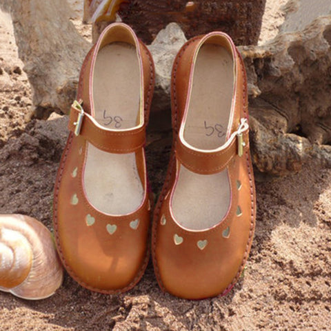Γυναίκα Heart Hollow Out Flat Leisure Shoes