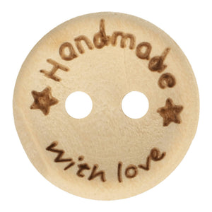"Houten knoop ""handmade with love"""