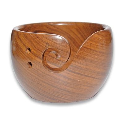 Durable houten yarn bowl hoog (2 varianten)