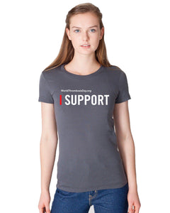I Support Ladies Tee - Grey