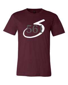 III & Long Foundation 561 Maroon Unisex Short Sleeve T-shirt