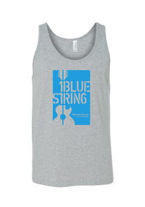 1BlueString Heather Grey Unisex Tank