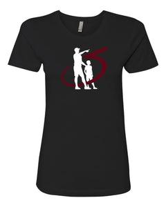 III & Long Foundation Father and Son Black Ladies' Tee