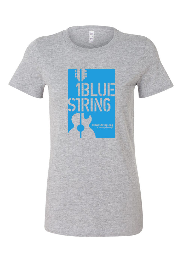 1BlueString Heather Grey Ladies' Tee