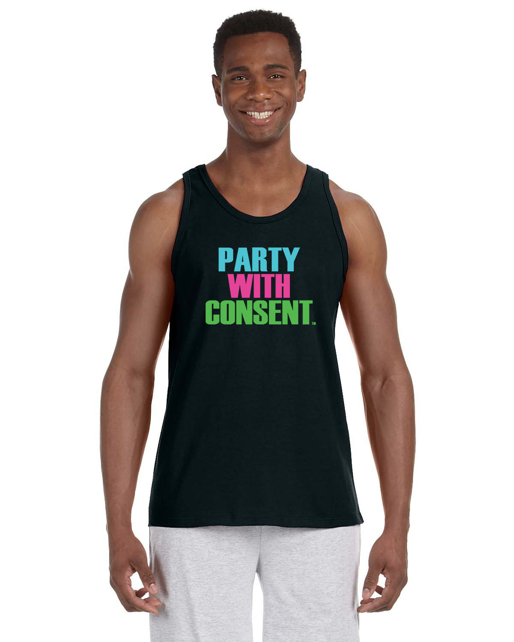 Party With Consent Black Tank