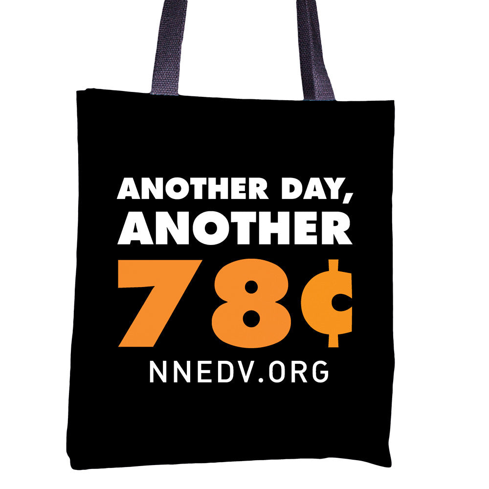 "NNEDV Black ""78 Cents"" Tote"