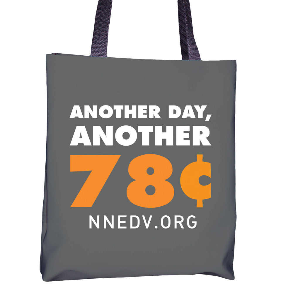 "NNEDV Gray ""78 Cents"" Tote"