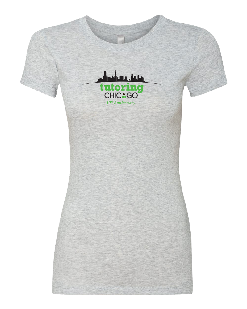 Tutoring Chicago 50th Anniversary Ladies Perfect Tee