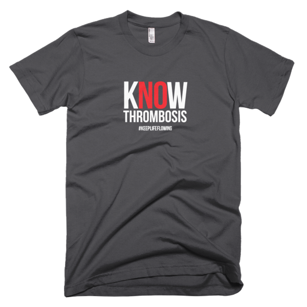 Know Thrombosis Unisex Tee - Grey