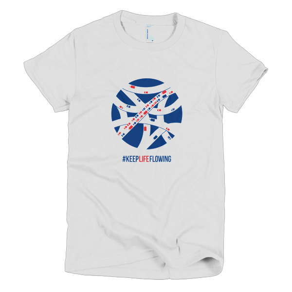 Keep Life Flowing Ladies Tee - White
