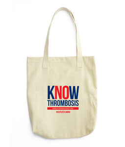 Know Thrombosis Tote Bag