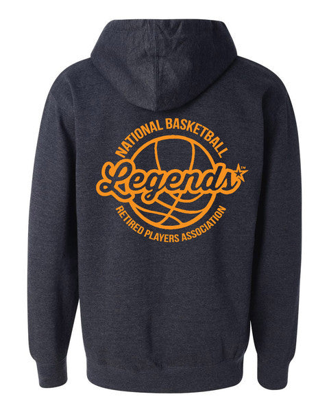 Legends Navy Zip Hoodie - back print
