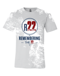 Remembering the 22 Distressed Logo Tee
