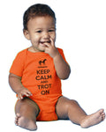 Gallop NYC orange onesie