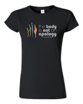 The Body is Not an Apology Black Babydoll Tee