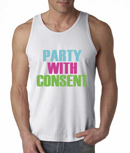 Party With Consent White Tank