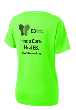 EB Research Neon Green Women's Sport-Tek Performance V-neck Tee