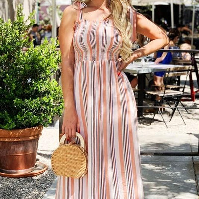 Striped Maxi Dress Free Shipping