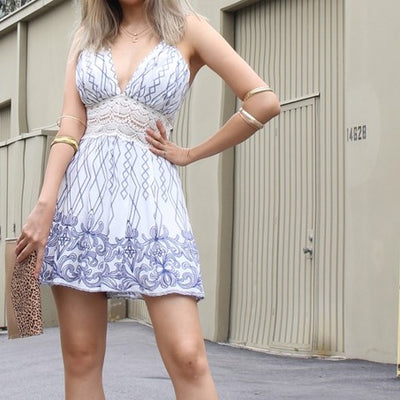 Patterned Romper Free Shipping