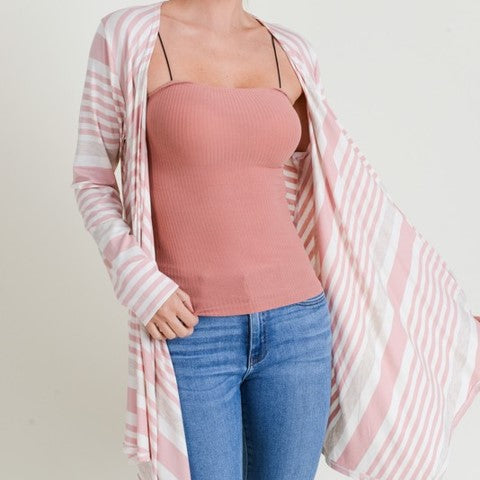 Striped Cardigan Free Shipping