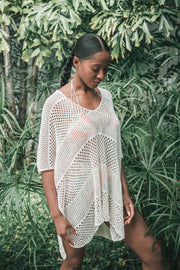 Mesh Knit Cover Up