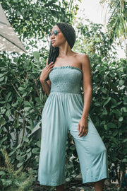Strapless Smocked Jumpsuit