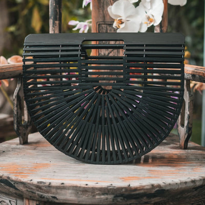 Black Bamboo Bag | Bamboo Purse | CraveLyfe