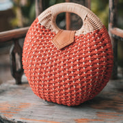 Bowling Ball Woven Straw Bag