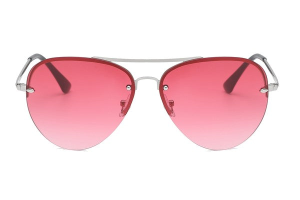 Ombre Lens Aviator Sunglasses