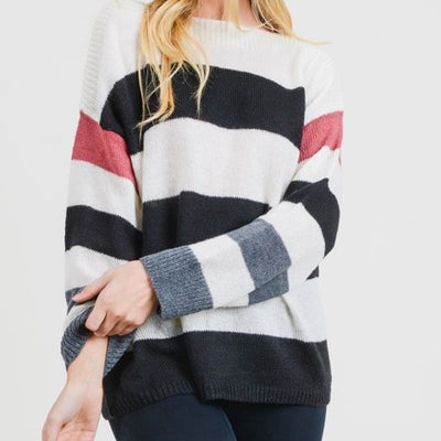 Striped Sweater Free Shipping
