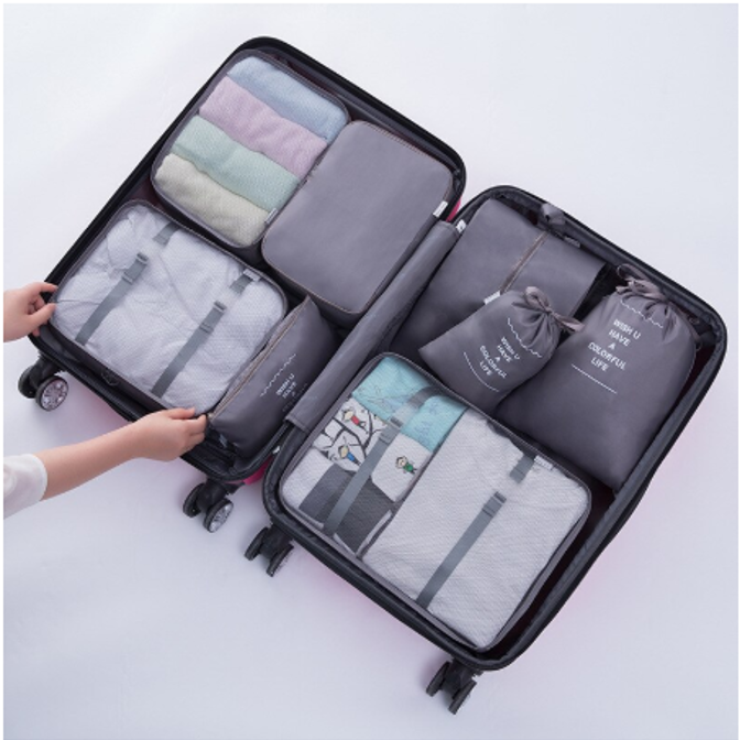 8 Piece Packing Cube Set Free Shipping