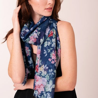 Floral Print Scarf Free Shipping