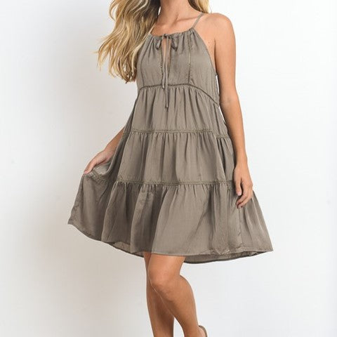 Women's Tiered Mini Halter Dress Buy Now, Pay Later with Afterpay Free Shipping