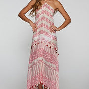 Moroccan Print Maxi Dress Cover Up Free Shipping