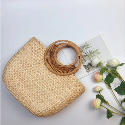 Straw Tote Bag Free Shipping