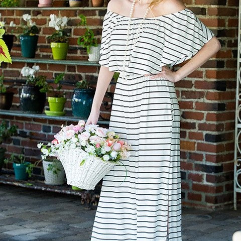Off The Shoulder Maxi Dress Free Shipping